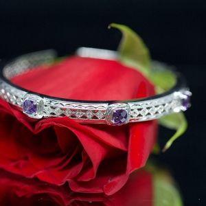 925S Tacori Purple Topaz Love Strength Bracelet
